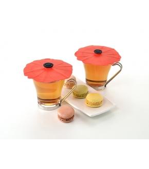 Tampa de Silicone para Bebidas (x2) Poppy - Charles Viancin