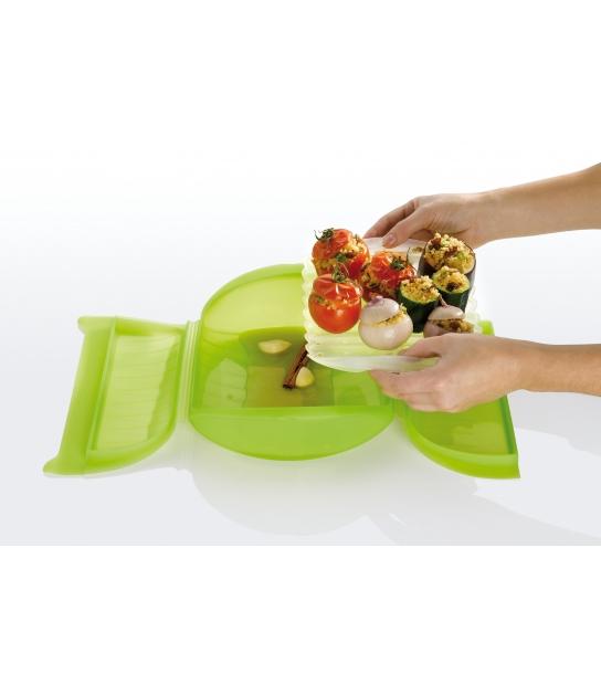 Caixa para Cozinhar a Vapor com Bandeja 3-4 P - Lékué