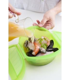 Caixa para Cozinhar a Vapor no Micro-ondas ou Forno 3-4P - Lékué