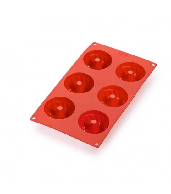 Molde de Silicone para 6 Mini Savarin - Lékué