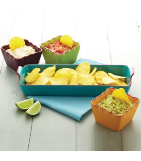 Conjunto de 4 Taças para Entradas de Cerâmica Mexican Collection - Kitchen Craft