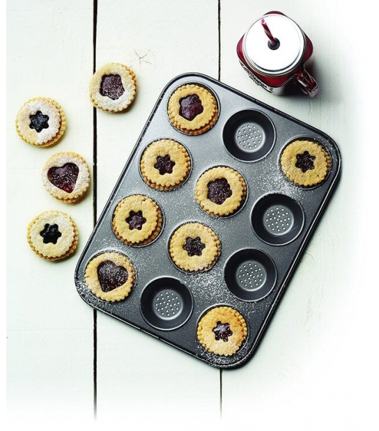 Molde Antiaderente Perfurado para 12 Tarteletes MasterClass - Kitchen Craft