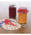 Conjunto Decorativo para Frascos de Compotas Heart Patterned - Kitchen Craft