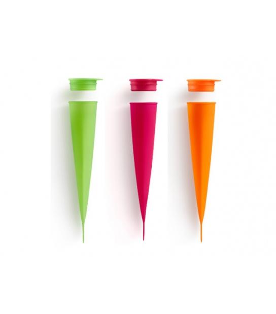 Conjunto de 3 Moldes para Gelados de Silicone - Lékué