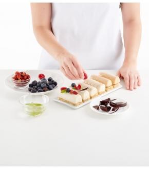 Molde Quadrado para Sobremesas Recheadas Mini Bûche - Lékué