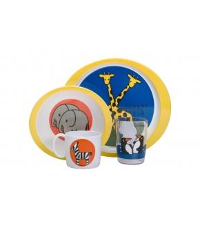 Conjunto de Pratos e Copos para Criança Zoo - Rosti Mepal
