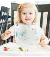 Conjunto de 3 Babetes de Alimentação Absorventes Nuvens - Tiny Twinkle