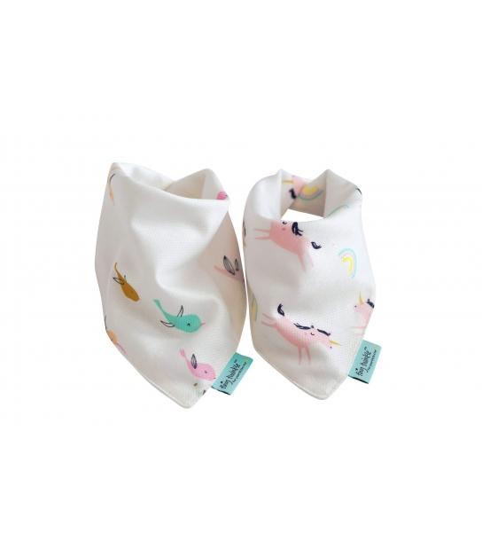 Conjunto de 2 Babetes Absorventes Bandana Drool Únicórnio - Tiny Twinkle