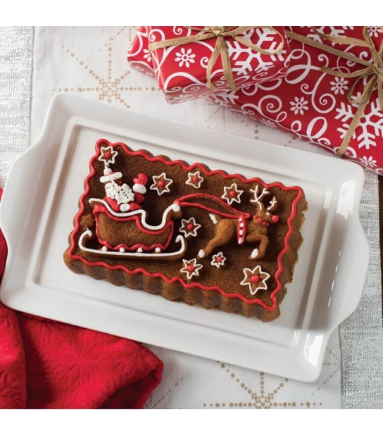Forma Trenó de Natal Santa Sleigh Loaf Pan - Nordic Ware